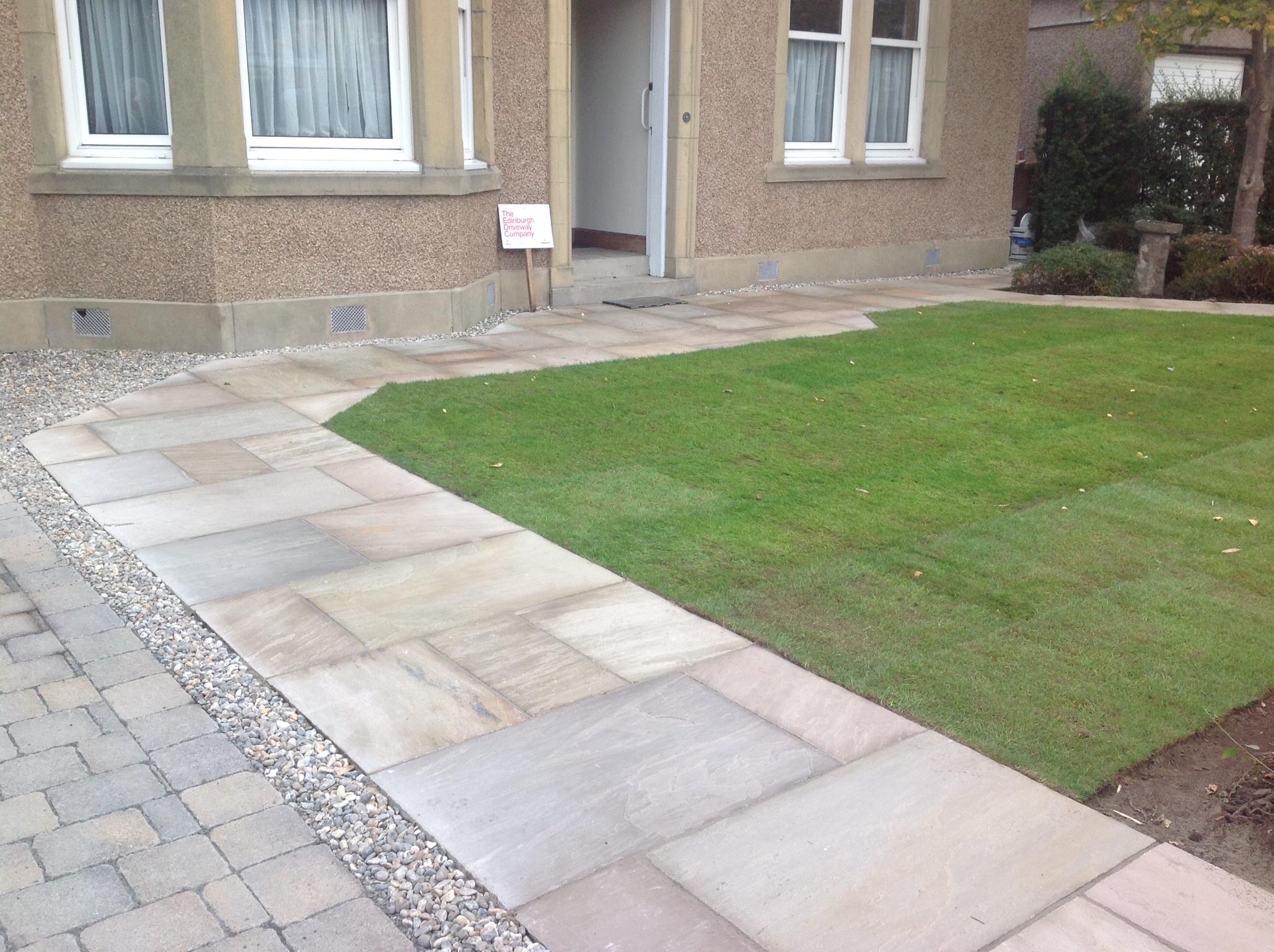 block paved flagged driveway hardwick